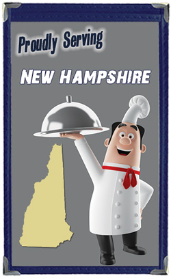 Great Menu Covers proudly serves restaurants in New Hampshire with their menu covers and accessories
