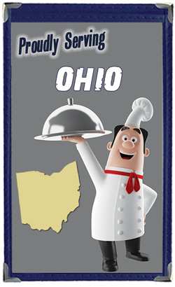Great Menu Covers proudly serves restaurants in Ohio with their menu covers and accessories