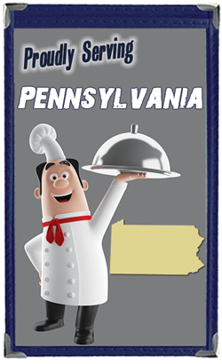 Great Menu Covers proudly serves restaurants in Pennsylvania with their menu covers and accessories