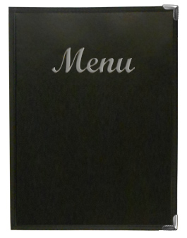 Stoney Creek River™ Menu Cover Black with Silver Imprinting