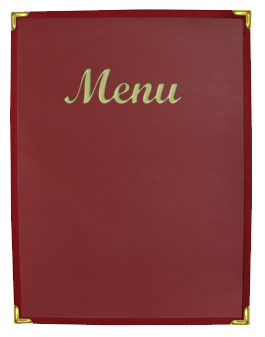 Stoney Creek™  Menu Cover Burgundy with Gold Imprinting