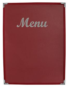 Stoney Creek™  Menu Cover Burgundy with Silver Imprinting