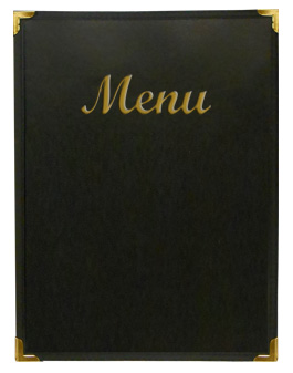 Stoney Creek™ Menu Cover Black with Gold Imprinting
