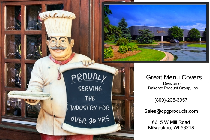 Great Menu Covers.com proudly serving the industry for over 35 years
