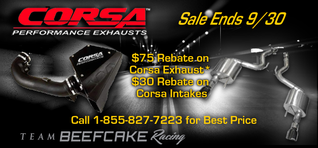 Corsa Exhaust Sale Call for Best Price