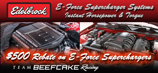 Edelbrock E-Force Superchargers $500 Rebate