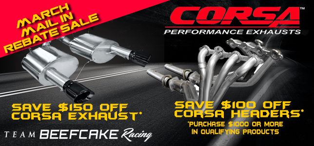 March Rebate Sale Corsa Performance Exhaust