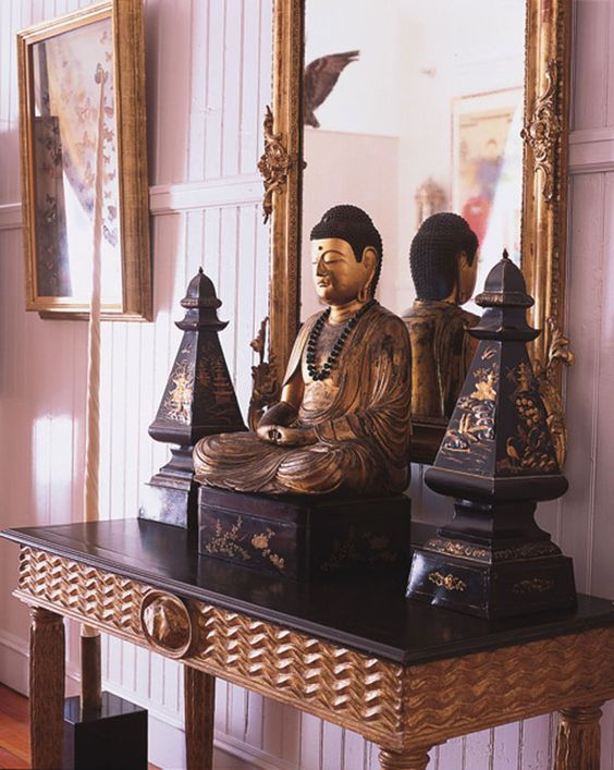 decorating with budda and obelisks