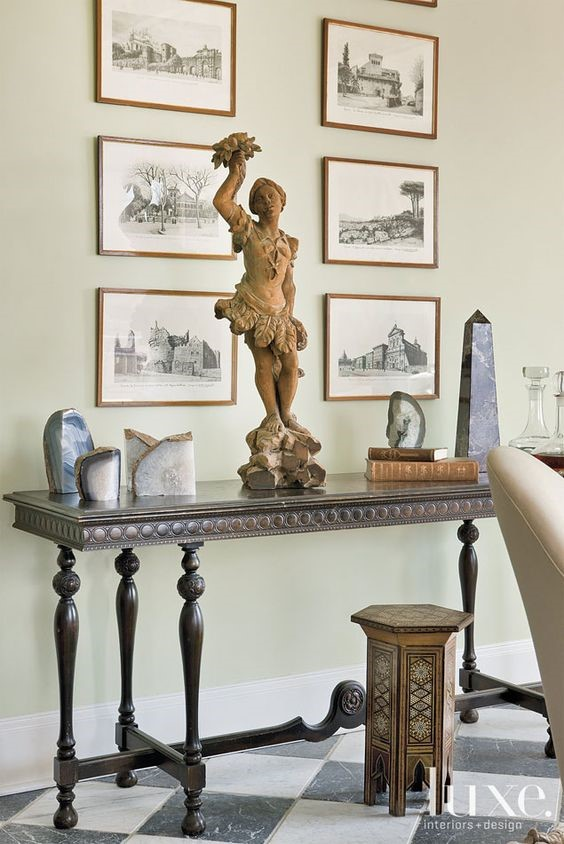 console table with fabulous tableau