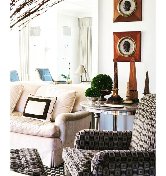 obelisks in chic 5th ave apartment