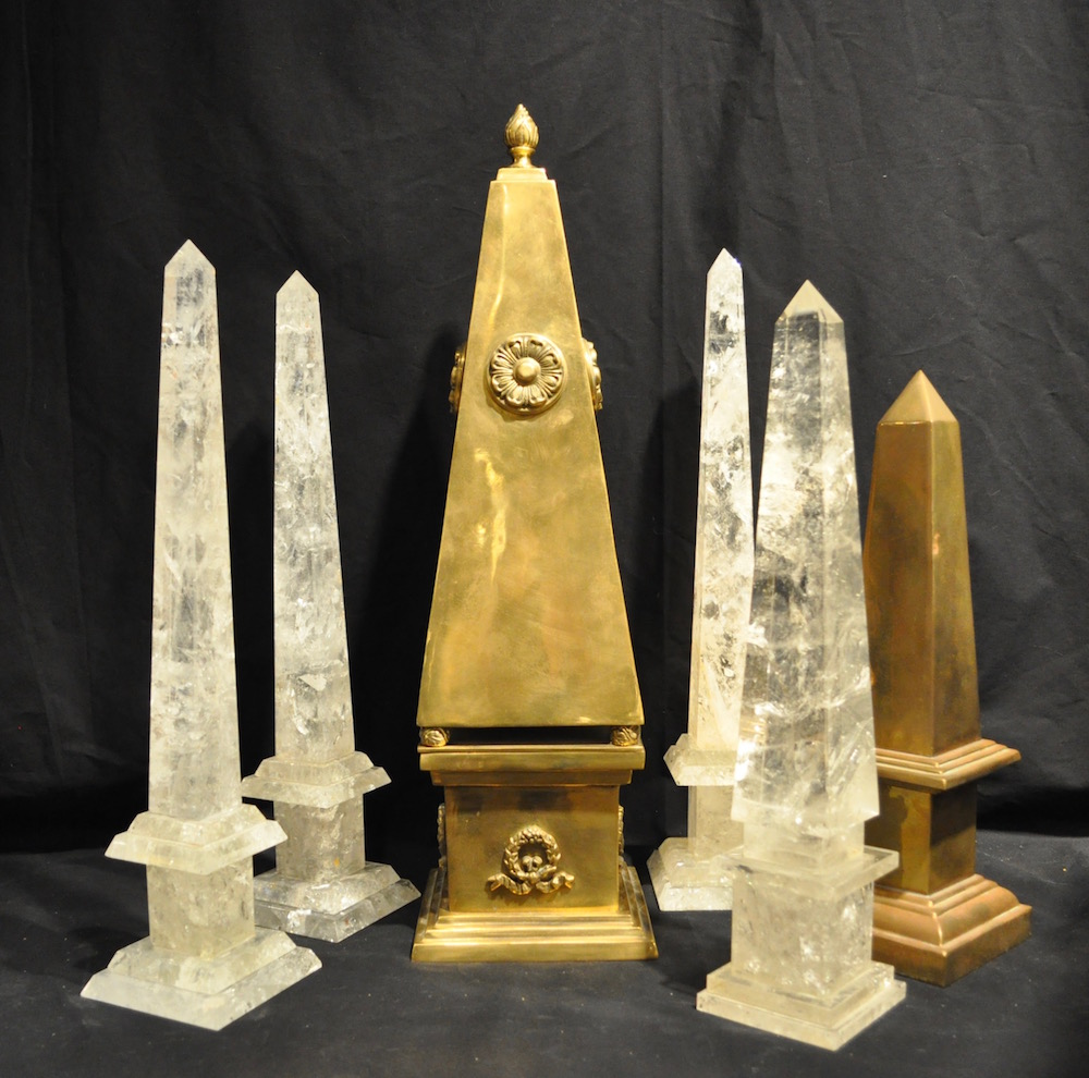 Only Obelisk obelisk collection grouped with crystal and brass