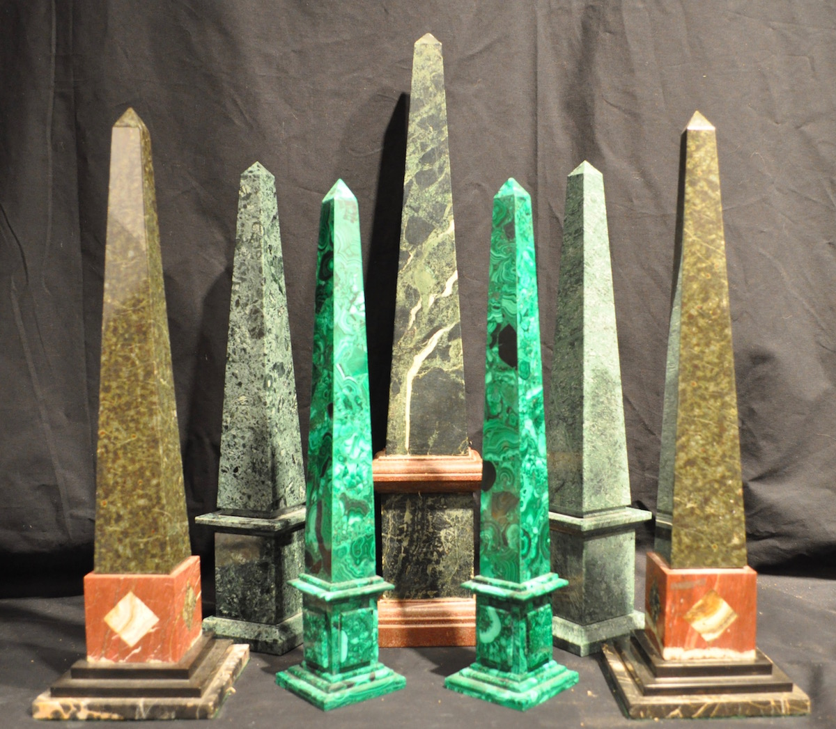 Green obelisks from Only Obelisks