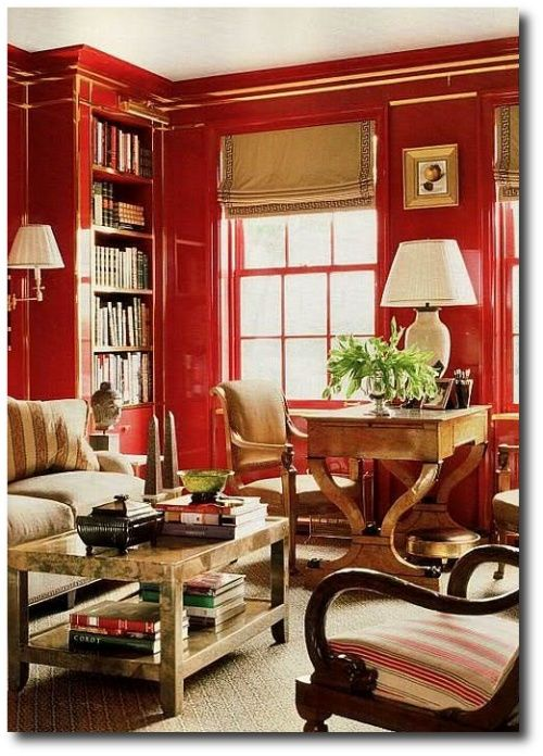 decorating with obelisks with chic red style