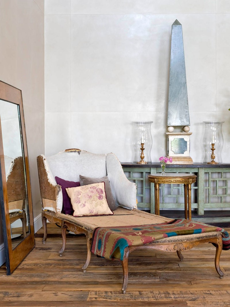 giant colossal obelisk in shabby chic space