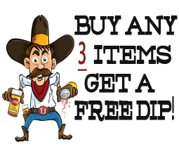 Buy 3 and Get A Free Dip!