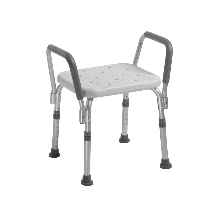 Drive Meical Bath bench with padded removable arms 124405d-1