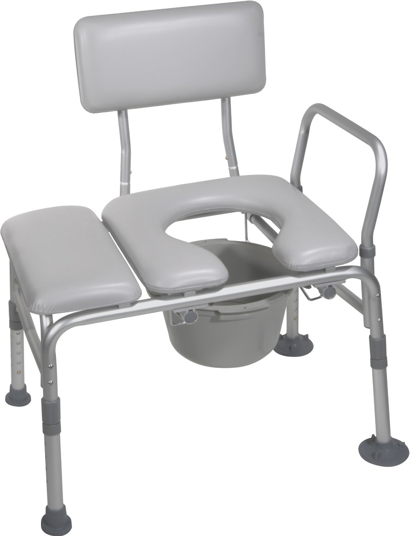 Transfer bench and Commode bathroom equipment
