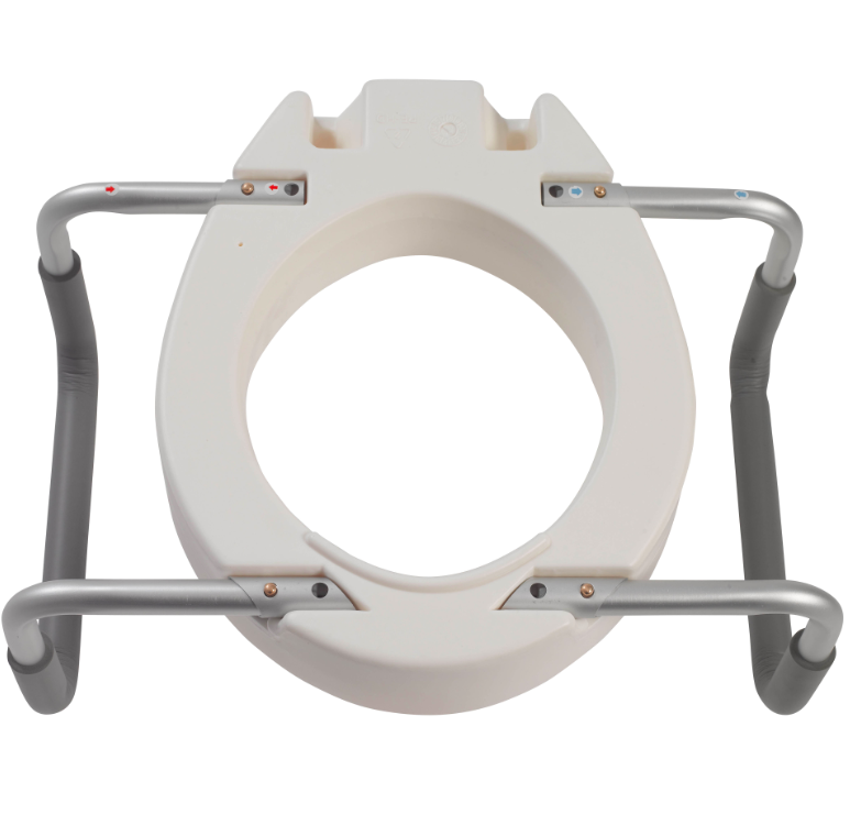 Premium Raised Toilet Seat with Removable Arms 12402