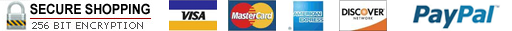 Credit Cards Accepted - Visa - MasterCard - American Express - Discover - PayPal