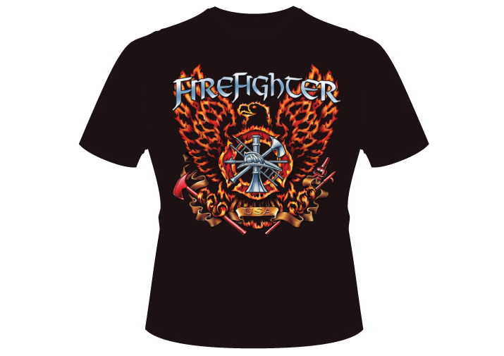 Men's Firefighter Eagle Shirt