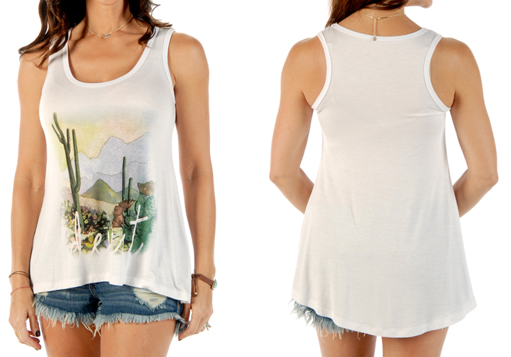 Women's Desert Sunset Loose Fit Tank Top