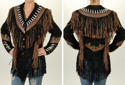 Women's black and brown suede jacket