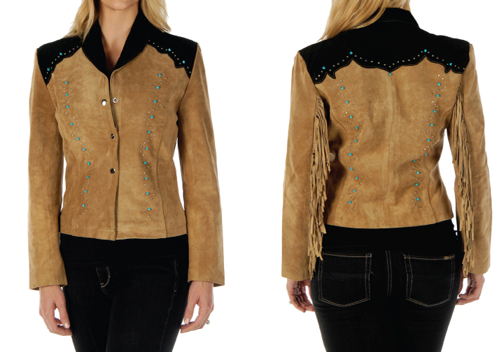 Ladies' suede short jacket