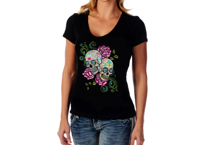 Women's Imported Short Sleeve V-Neck Top