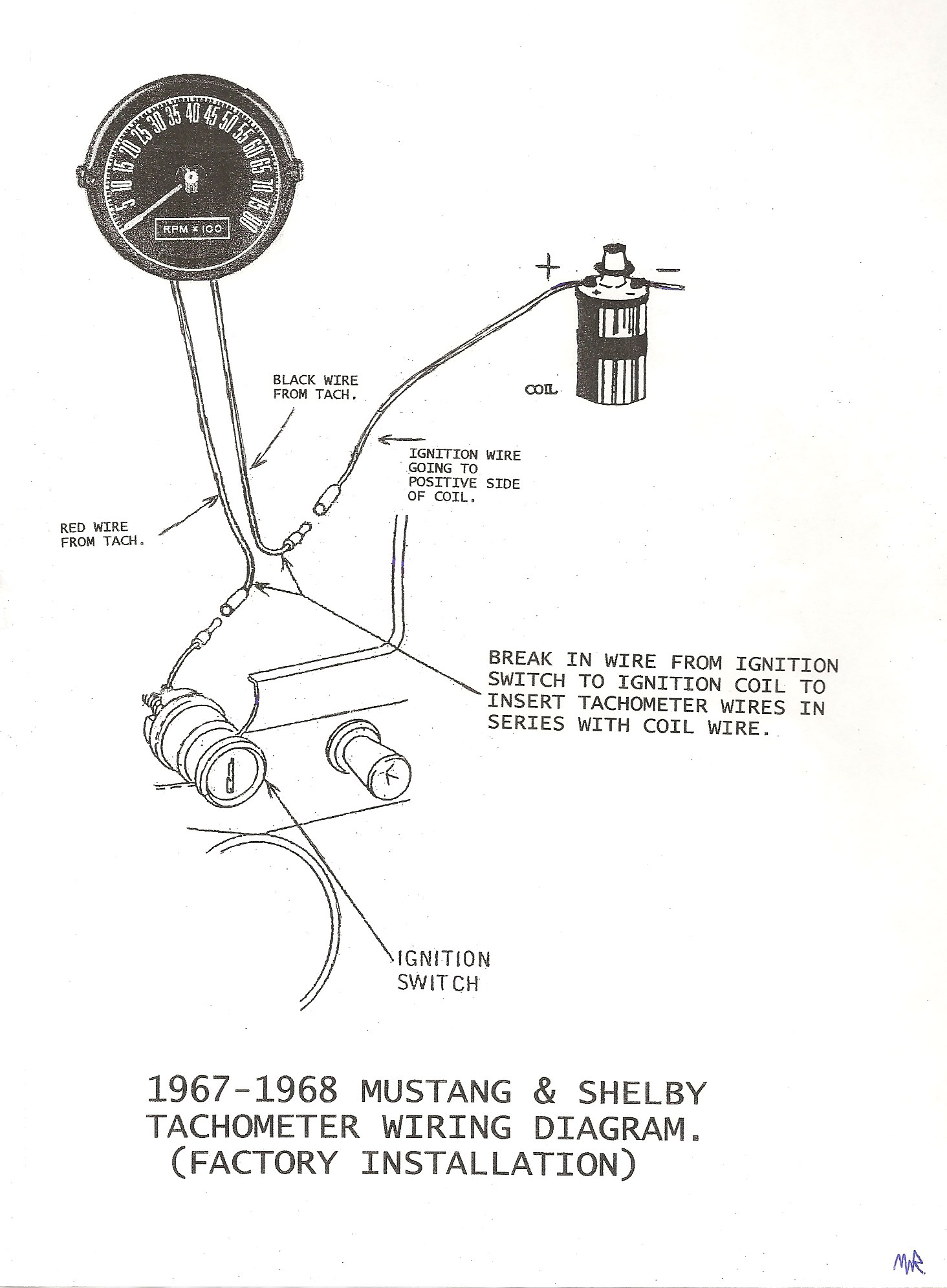 ... 1967-68 Mustang Shelby Factory Tach Wiring Diagram (JPEG Image) ...