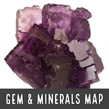 Gem Mineral Fossil Map