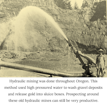 where to find gold mining and prospecting in oregon