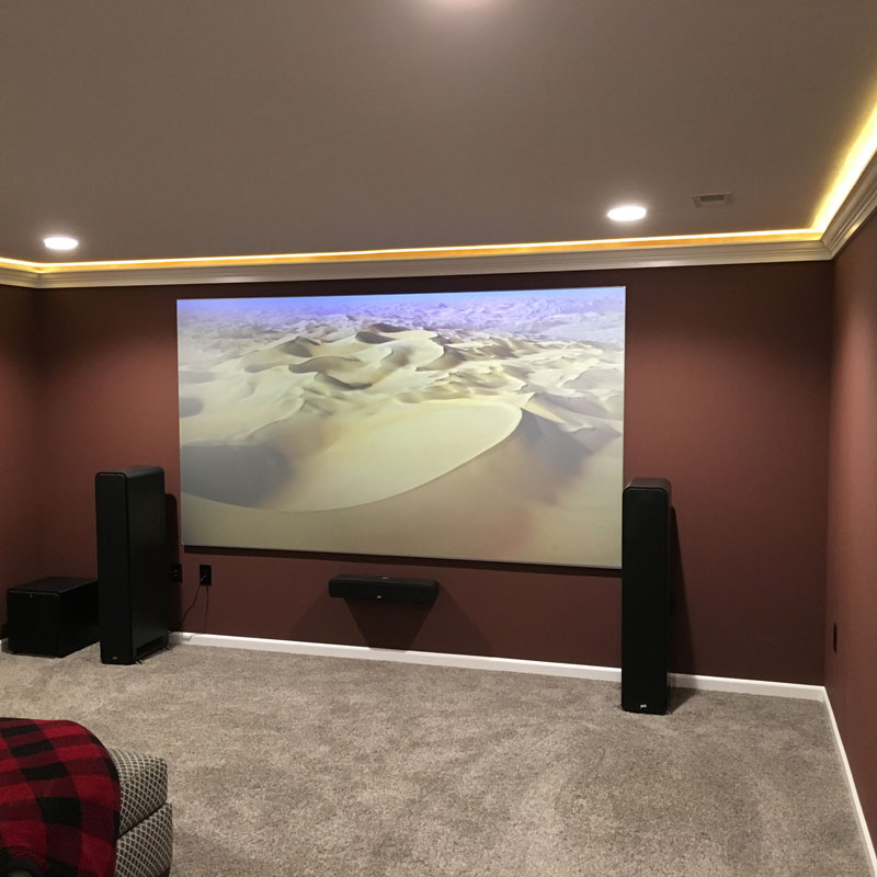 Home Theater Dimmable LED downlights u0026 rope light cove lighting & Project Gallery - Featured Client Jobs - Take Three Lighting