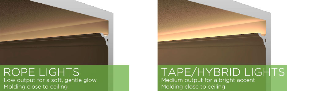 crown moulding lighting. Illustration Of Rope Light And Tape In A Low Ceiling Crown Molding Application Moulding Lighting
