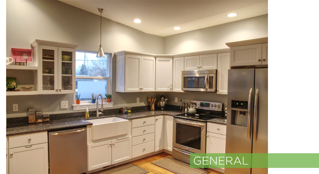 General ambient lighting in a kitchen