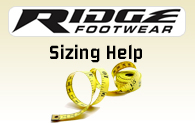 Ridge Footwear Boot Sizing