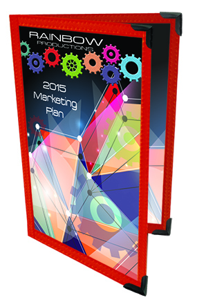 2 Panel, 4 page (8 1/2 x 14) Presentation Holder, Click on the Color Wheel to see available colors