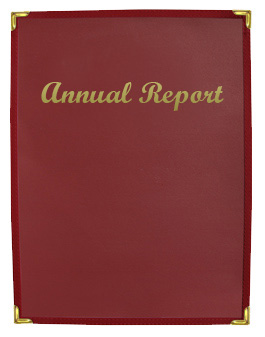 Impression™  8.5 x 11 Burgundy Presentation Holder with Gold Imprinting