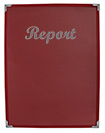 4 View Burgundy Presentation Folder with Silver Foil Imprinting