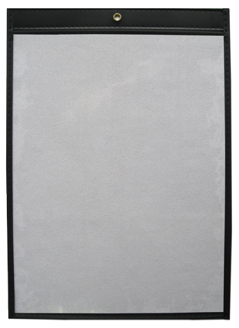 11 x 17 Open Short Single Panel Vinyl Job Jackets/Envelopes, Click on the Color Wheel to see available colors