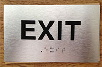 Brushed Aluminum Braille Signs from ADASignDepot.com