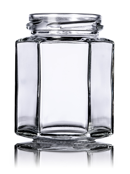 Clear Hex Candle Jars