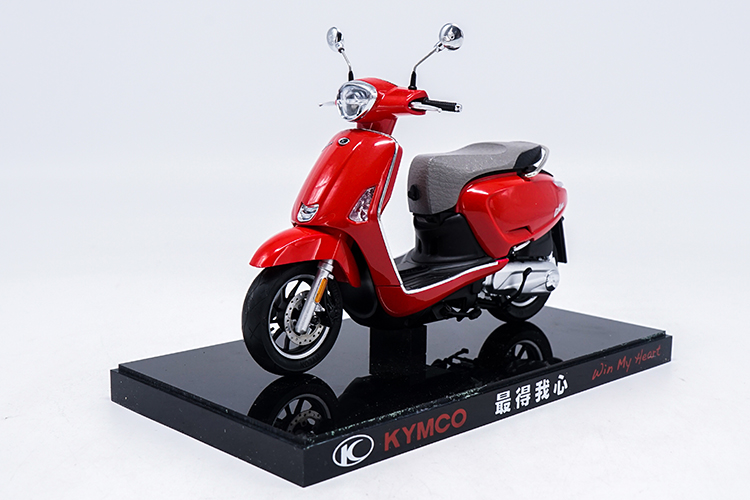 1/10 KYMCO Any Like 150 Red Motorbike Rare Mini Motorcycle Alloy Toy Car, Diecast Scale Model Car, Collectible Model Car, Miniature Collection Die-cast Toy Vehicles Gifts