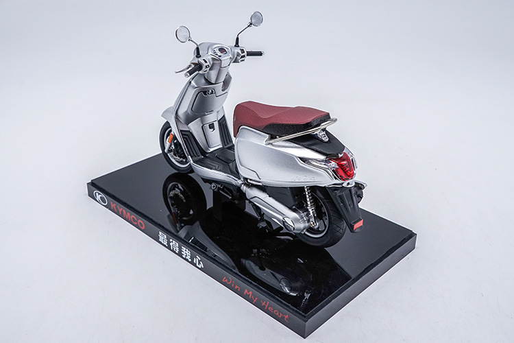 1/10 KYMCO Any Like 150 Silver Motorbike Rare Mini Motorcycle Alloy Toy Car, Diecast Scale Model Car, Collectible Model Car, Miniature Collection Die-cast Toy Vehicles Gifts