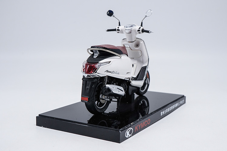 1/10 KYMCO Any Like 150 White Motorbike Rare Mini Motorcycle Alloy Toy Car, Diecast Scale Model Car, Collectible Model Car, Miniature Collection Die-cast Toy Vehicles Gifts