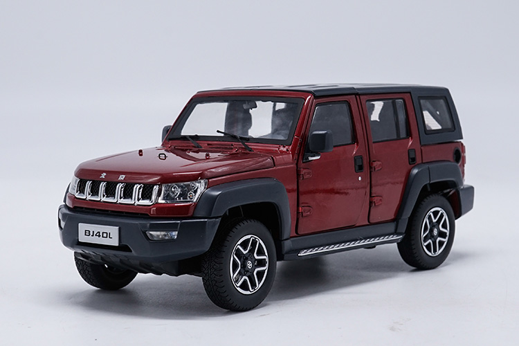 1/18 BAIC Beijing Jeep BJ40L BJ40 Red SUV Roof Detachable Alloy Toy Car, Diecast Scale Model Car, Collectible Model Car, Miniature Collection Die-cast Toy Vehicles Gifts