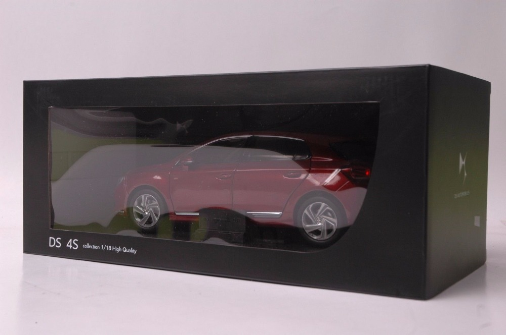 1:18 Diecast Model for Citroen DS 4S Red Hatchback Alloy Toy Car Miniature Collection Gift DS4 (Alloy Toy Car, Diecast Scale Model Car, Collectible Model Car, Miniature Collection Die-cast Toy Vehicles Gifts)