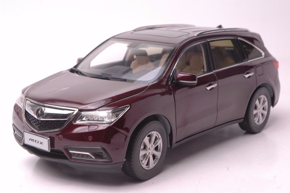 1:18 Diecast Model for Acura MDX 2016 Red Luxury SUV Alloy Toy Car Miniature Collection Gifts (Alloy Toy Car, Diecast Scale Model Car, Collectible Model Car, Miniature Collection Die-cast Toy Vehicles Gifts)