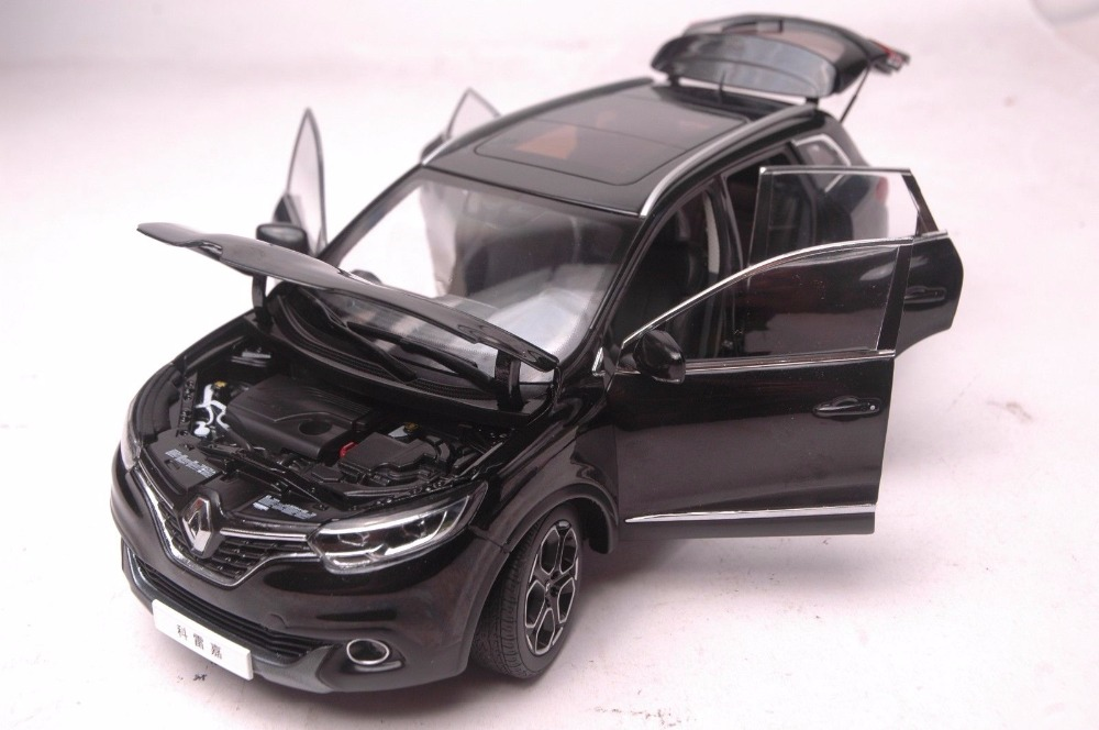 1:18 Diecast Model for Renault Kadjar 2017 Black SUV Alloy Toy Car Miniature Collection Gift (Alloy Toy Car, Diecast Scale Model Car, Collectible Model Car, Miniature Collection Die-cast Toy Vehicles Gifts)