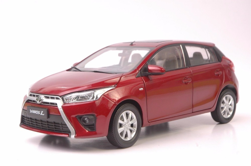 1:18 Diecast Model for Toyota Yaris L Red Alloy Toy Car Miniature Collection Gifts (Alloy Toy Car, Diecast Scale Model Car, Collectible Model Car, Miniature Collection Die-cast Toy Vehicles Gifts)