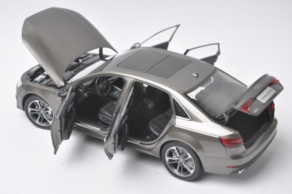 1:18 Diecast Model for Audi A4L 2017 Brown Alloy Toy Car Miniature Collection Gifts A4 S4 (Alloy Toy Car, Diecast Scale Model Car, Collectible Model Car, Miniature Collection Die-cast Toy Vehicles Gifts)